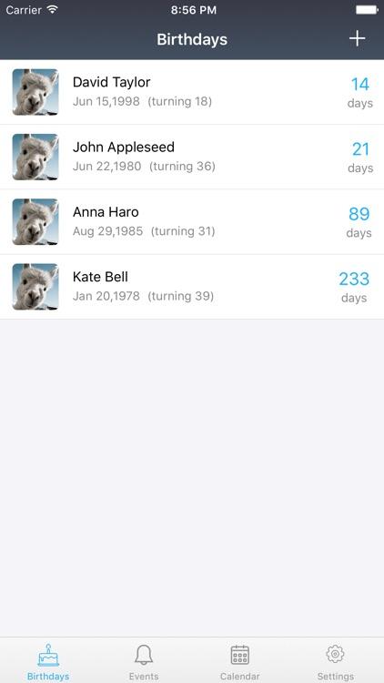 Birthday Reminder & Big Days screenshot-4