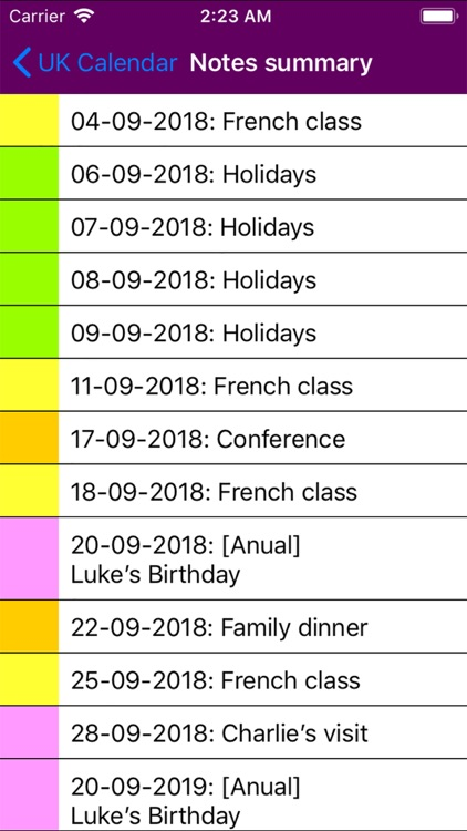 2019 UK Holiday Calendar NoAds screenshot-5