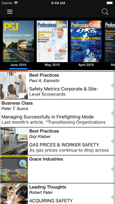 ASSP Professional Safety screenshot two