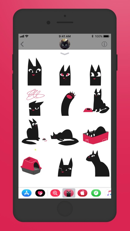 Maus Cat Stickers