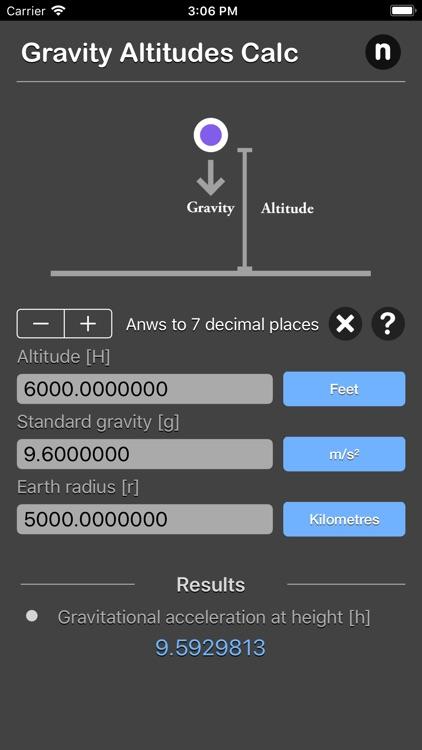 Gravity Altitudes Calculator screenshot-4