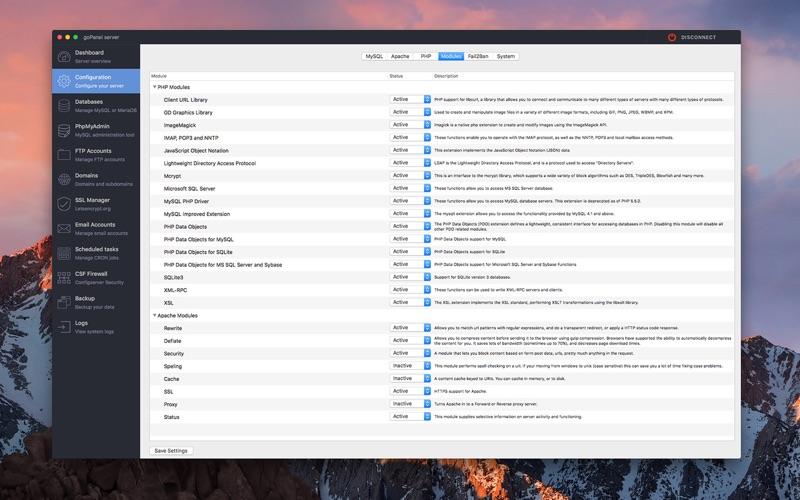 Скриншот №4 к goPanel 2 - Web Server Manager для Mac
