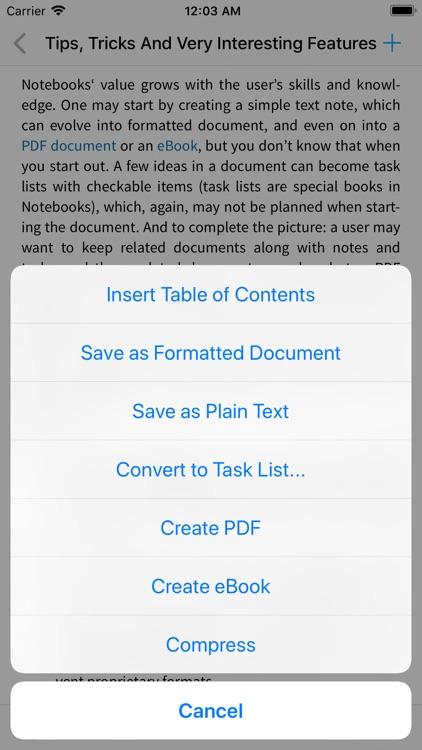 Notebooks: Write & Organize screenshot-8