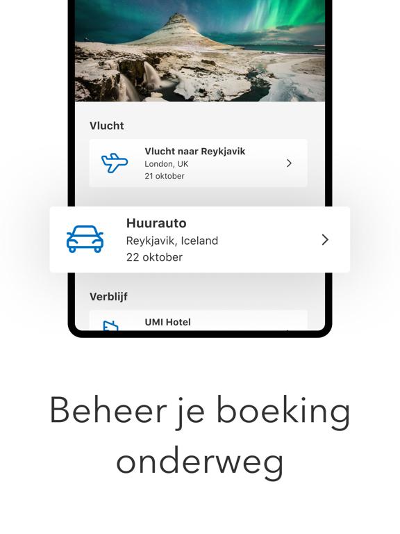 Booking.com Reisdeals iPad app afbeelding 4