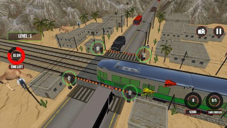 Railroad Crossing Train Sim 3D screenshot-3