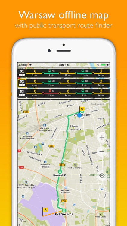 Warsaw offline map & transport screenshot-0