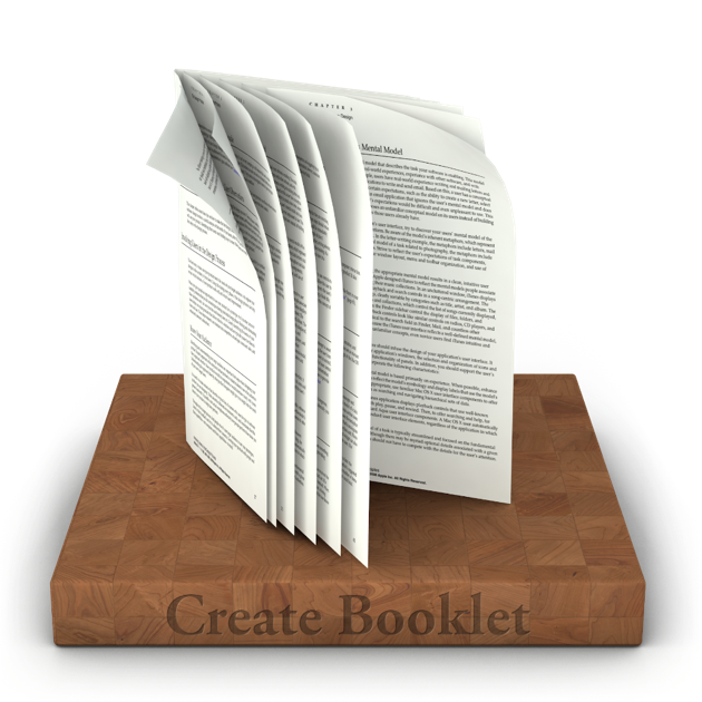 create booklet 2 en mac app store