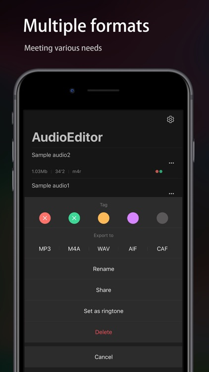 Audio Editor - Music editor screenshot-3