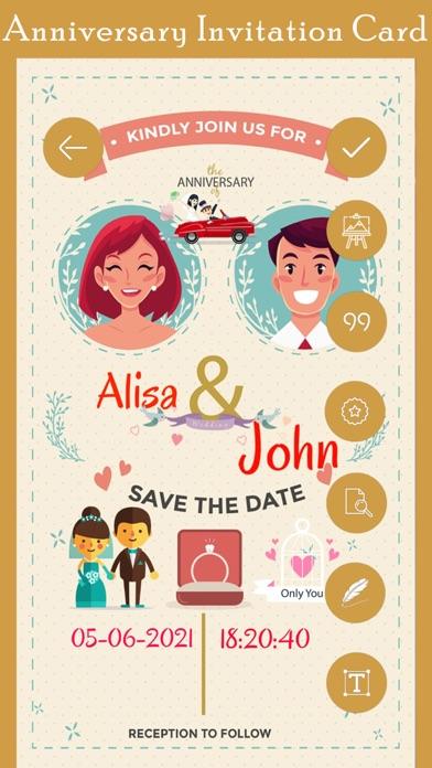 Anniversary Invitation Card Hd Apps 148apps