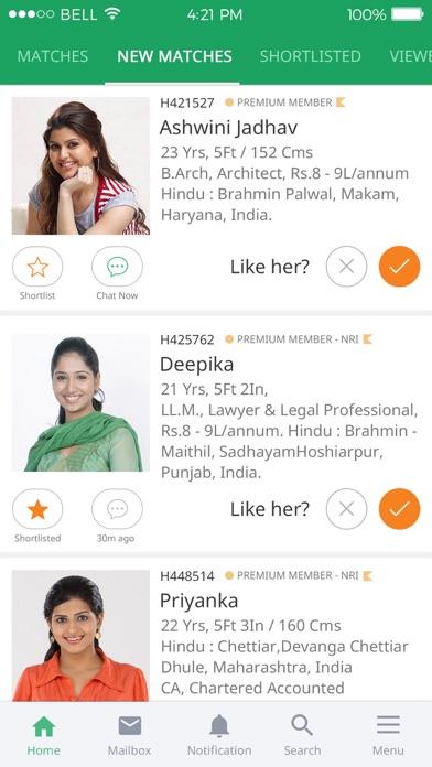 Bharatmatrimony Matrimonial review screenshots