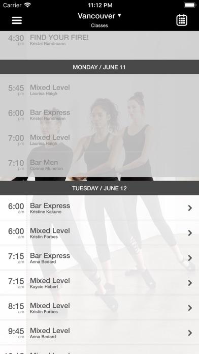 Bar Method Screenshot
