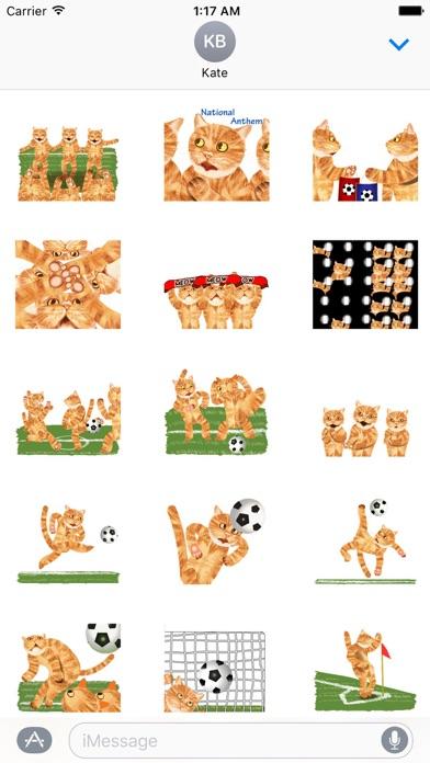 Scoccer Team Of Cats Sticker Screenshot