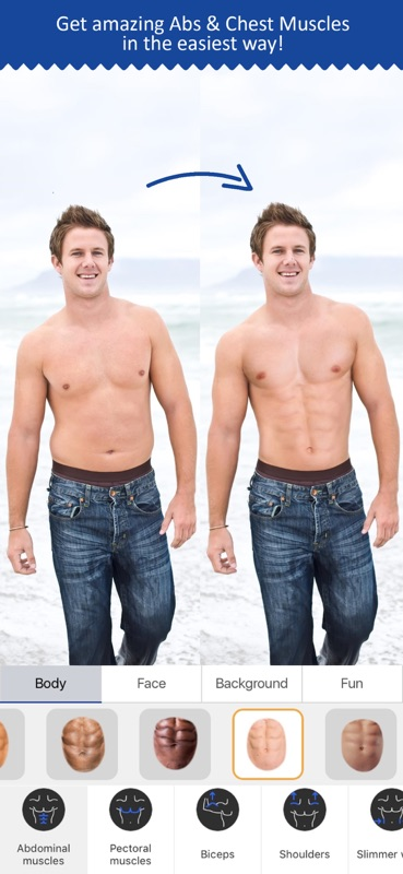 Retouch Men: Abs & Body Editor - Online Game Hack and Cheat