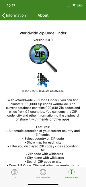 Worldwide ZIP Code Finder