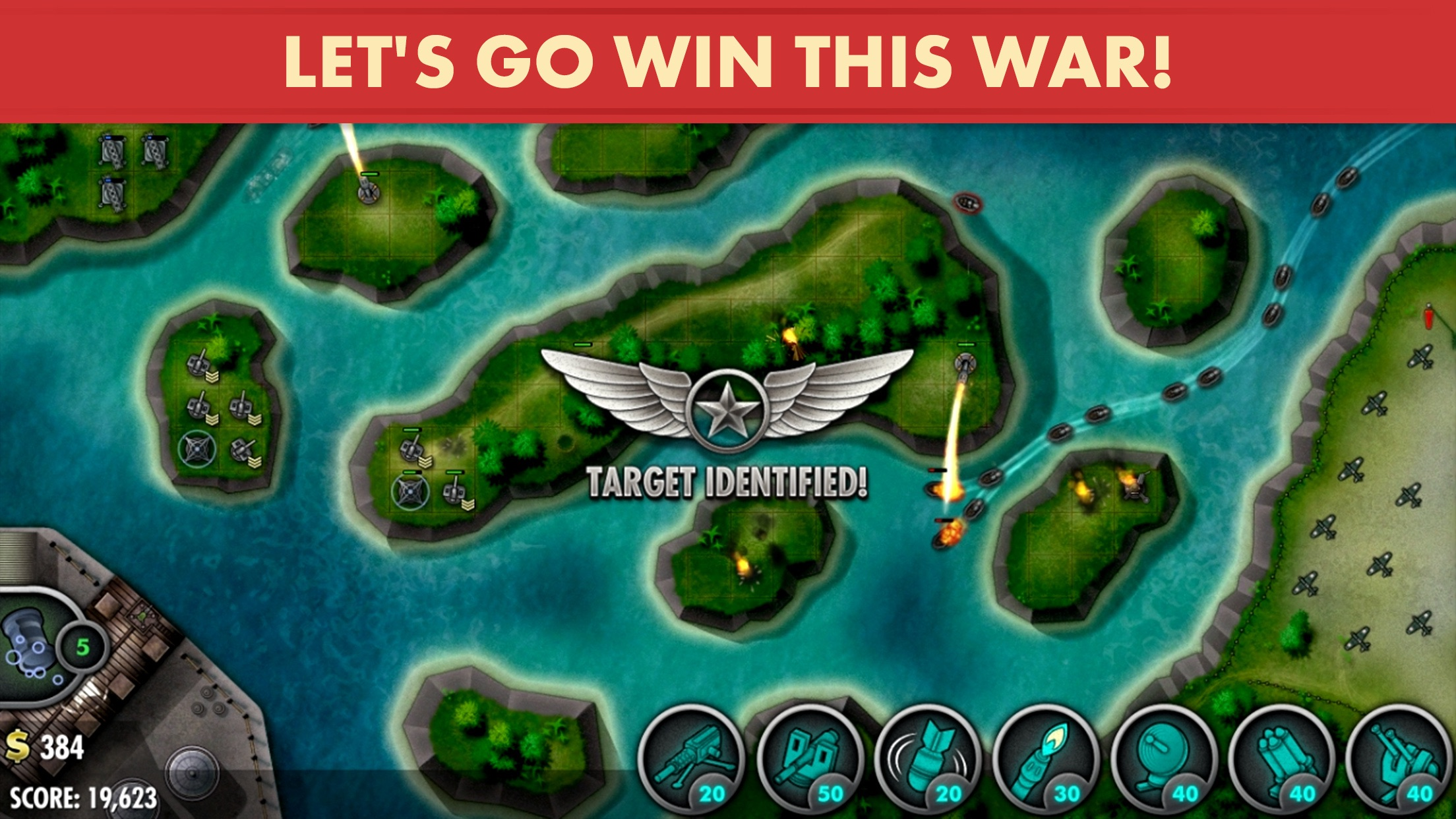 Screenshot do app iBomber Defense Pacific