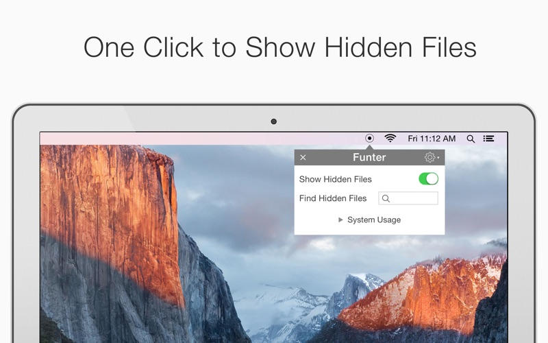 Show hidden files app