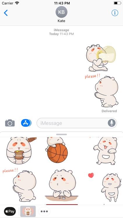 Silly Bear Animated Sticker screenshot-3