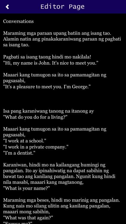 Spoken English in FILIPINO by Safeer Muhamed