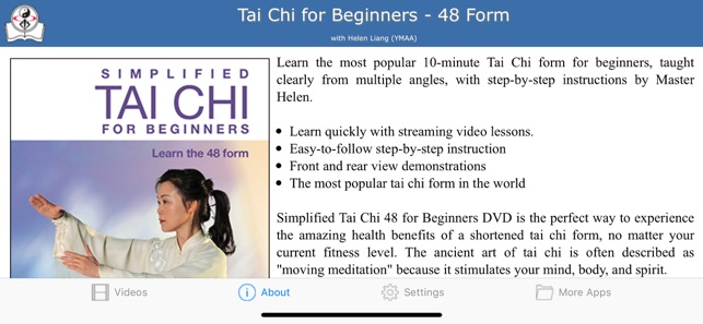 Tai Chi for Beginners 48 Form on the App Store