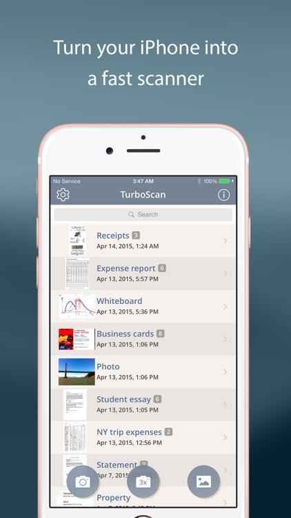TurboScan™: document scanner screenshot-0