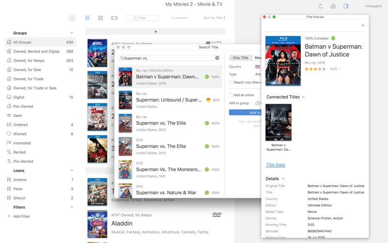 My Movies 2 Pro - Movie & TV for Mac