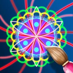 Kaleidoscope Magic Glow Paint