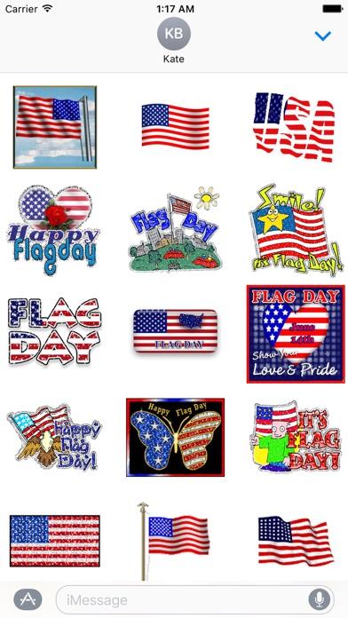 Animated Flag Day Sticker Screenshot
