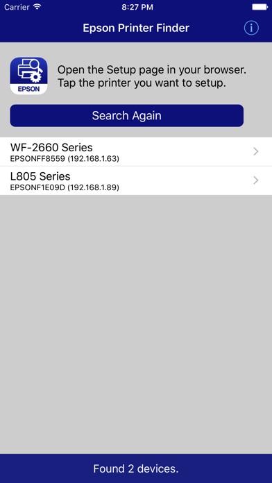 Epson Printer Finder app image