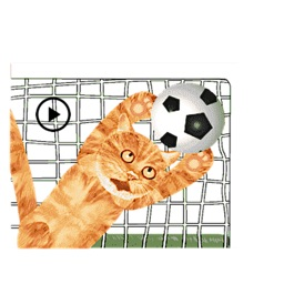 Scoccer Team Of Cats Sticker
