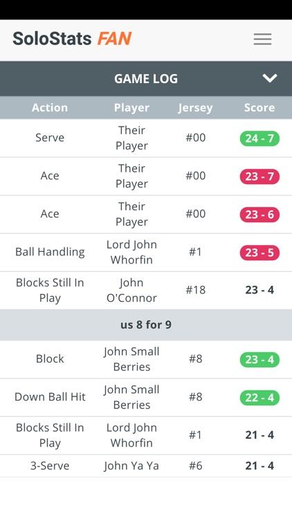 SoloStats Fan Volleyball screenshot-4