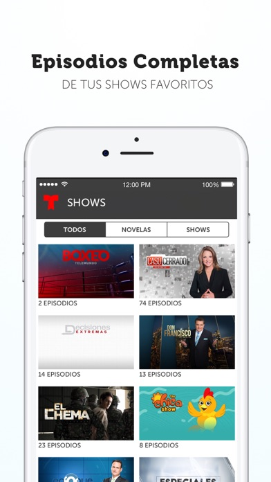 Telemundo Now review screenshots