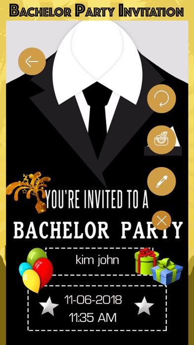 Download Bachelor Party Invitation Card for Android