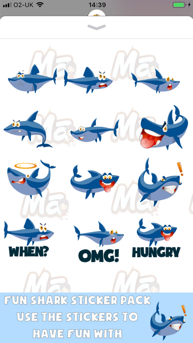 Shark Time Stickers screenshot one