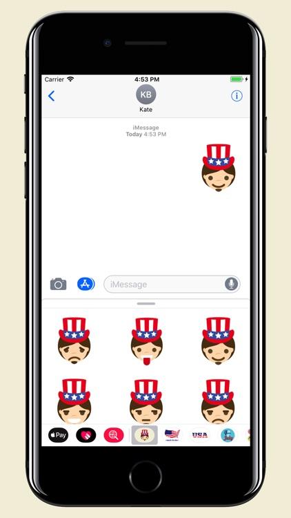 Uncle Sam - USA emoji pack screenshot-4