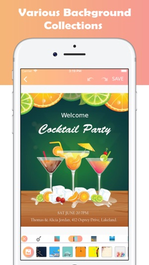 Invitation card maker ecards on the app store invitation card maker ecards on the app store stopboris Choice Image