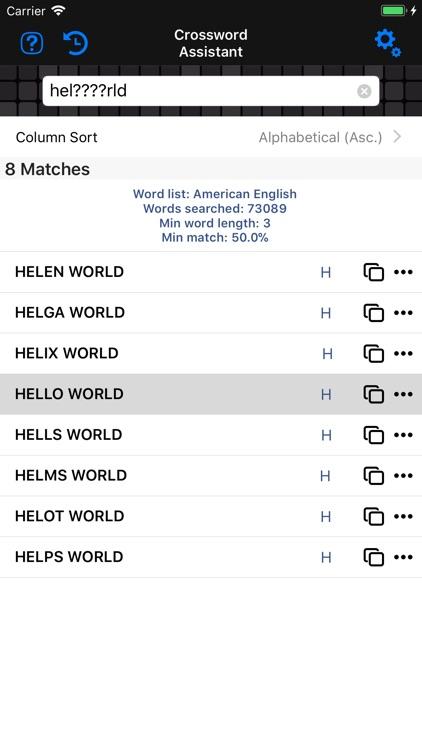 Anagram & Crossword Assistant screenshot-3