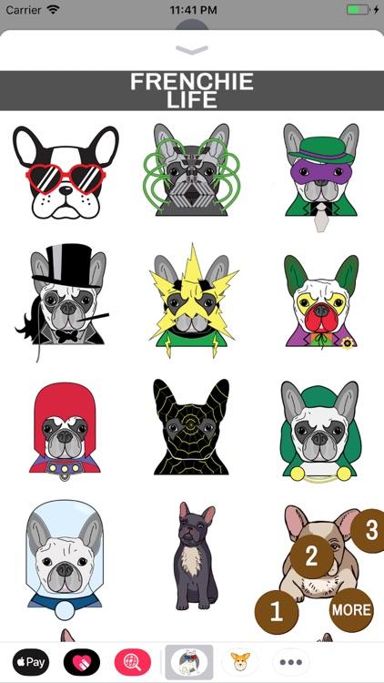 Frenchie Life Emoji Stickers screenshot-3