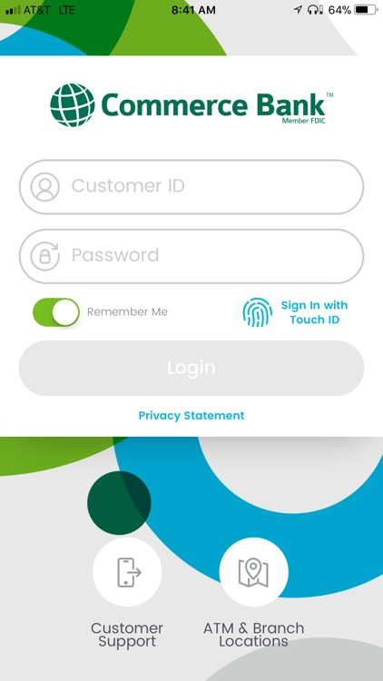 Commerce Bank for iPhone screenshot-0