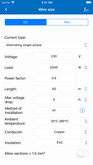 Electrical calculations lite on the app store electrical calculations lite on the app store keyboard keysfo Gallery