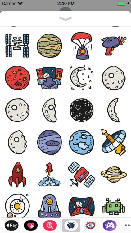 Outer Space Stickers Pro