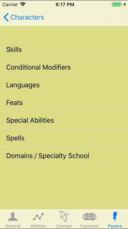 PF Character Sheet - NoAds screenshot-4