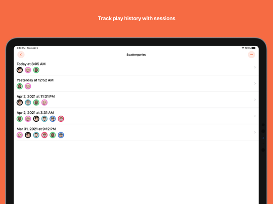 Ipad Screen Shot Scorecard: Point Tracker 1