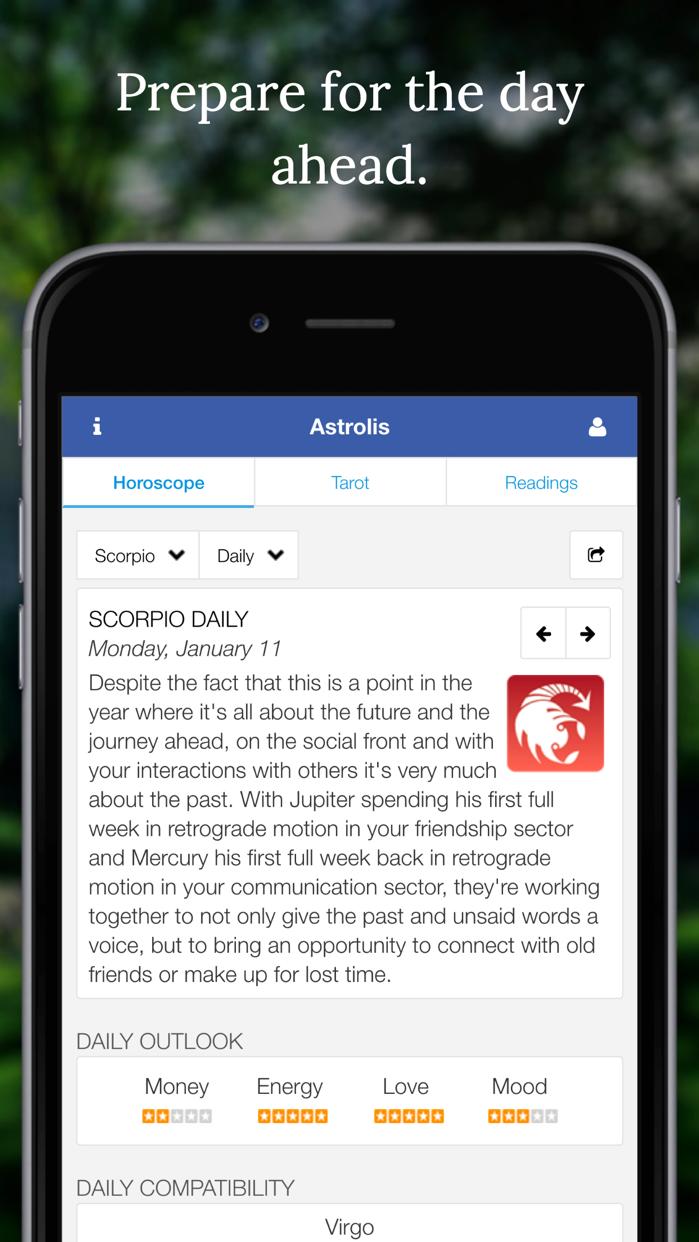 Astrolis Horoscopes & Tarot Screenshot