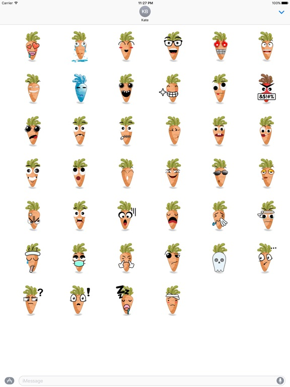 Cute Carrot Emoji Sticker screenshot 4
