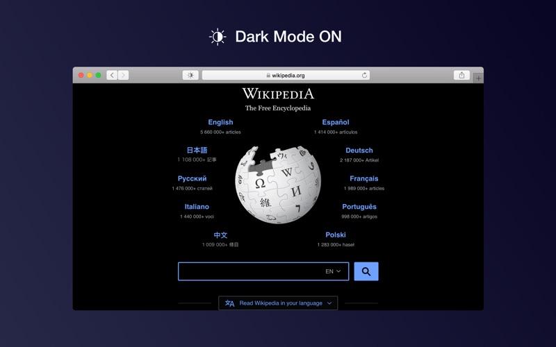 Dark Mode for Safari Screenshots