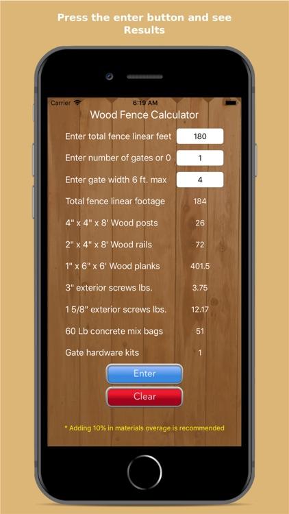 WoodFenceCalc screenshot-3
