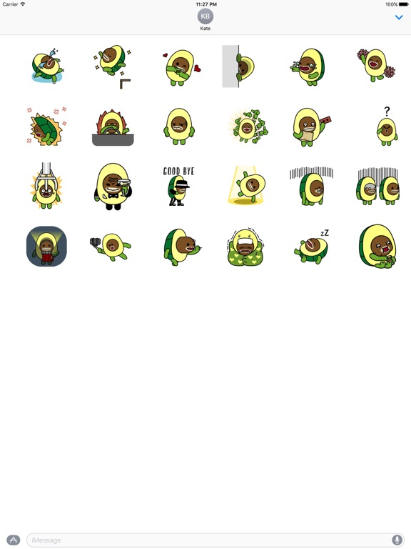 Animated Avocado Emoji Sticker screenshot 3