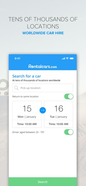 Rentalcars Com App Iphone