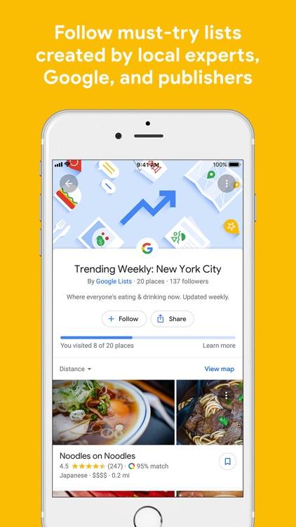 Google Maps - Transit & Food screenshot-3