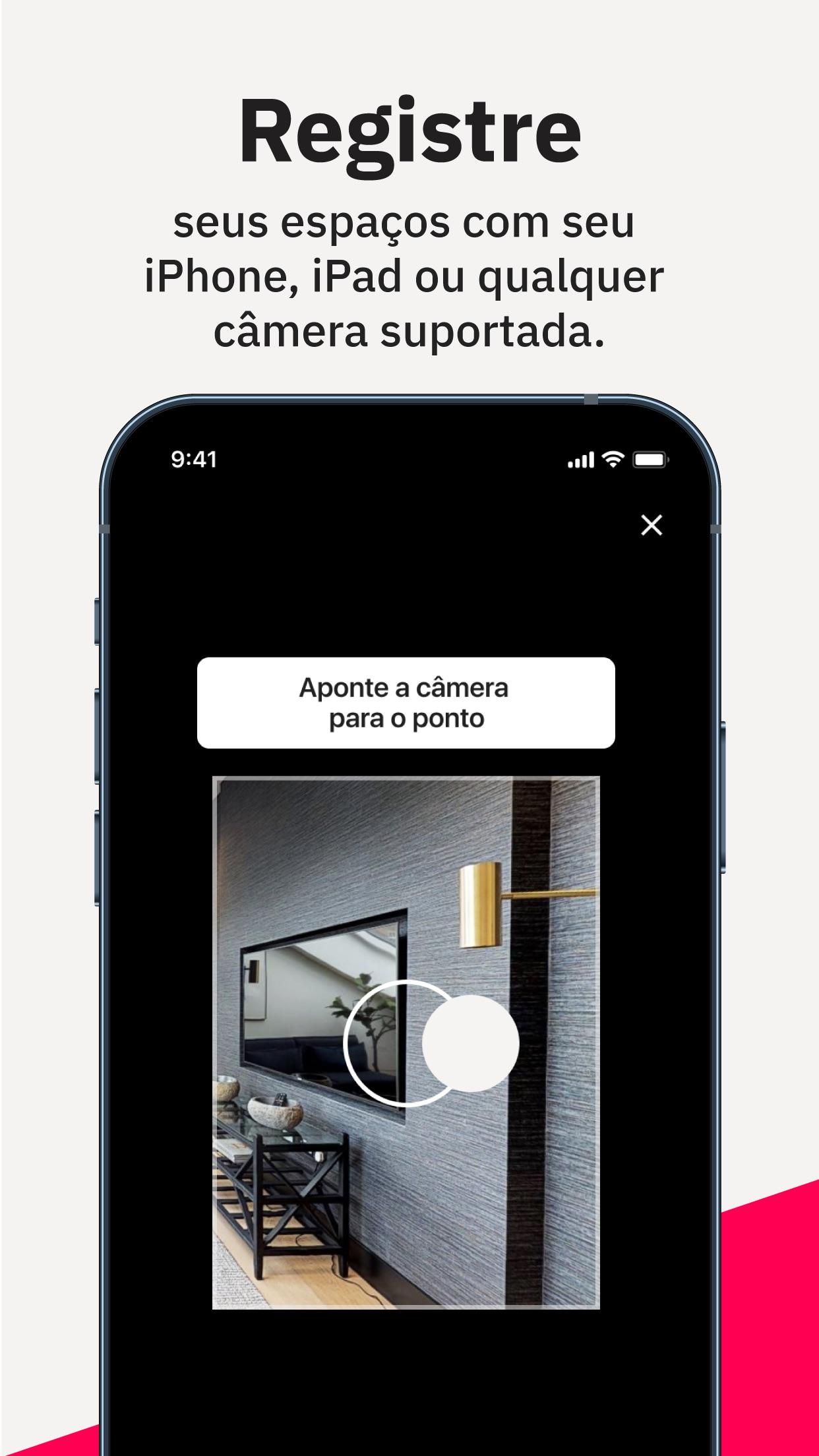 Screenshot do app Matterport Capture